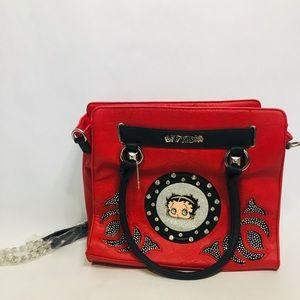 NWOT BETTY BOOP red shoulder bag
